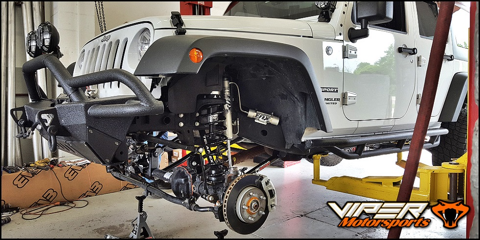 Jeep with lift kit installed